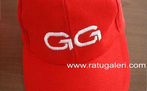 Topi Bahan Raphel Merah Nightmare contoh dan desain topi konveksi surabaya kaos seragam