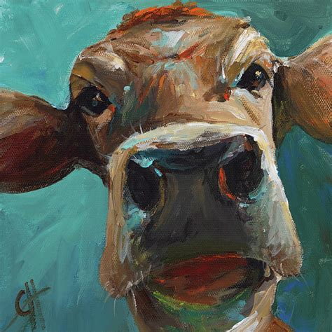 cari art elise the cow painting by cari humphry