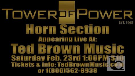 tower of power horn section tower of power horn section promo tedbrownmusiccompany