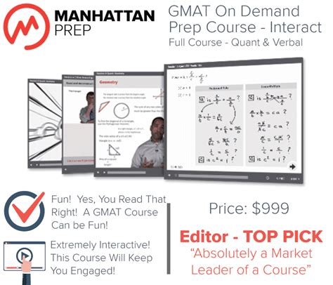 Top Mba Prep Courses by Manhattan Gmat Interact Prep Course Test Prep Store