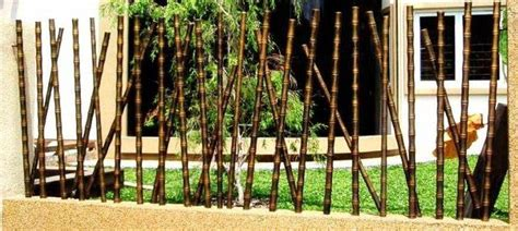 Gergaji Bambu ツ 18 desain pagar bambu cantik nan unik minimalis