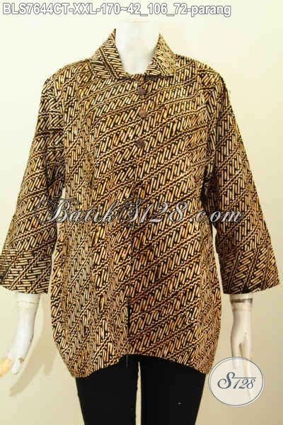 Parang Jumbo by Blus Batik Jumbo Motif Parang Baju Batik Wanita Gemuk
