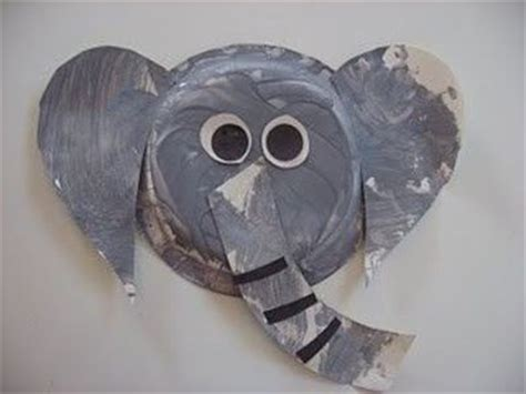 Elephant Paper Plate Craft - paper plate elephant craft preschool items juxtapost