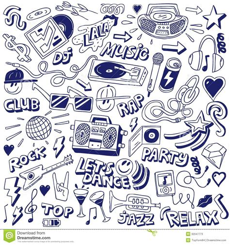 doodle de do song doodles stock vector image of disc melody