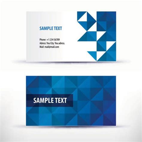 simple business card template pattern 04 vector hubpic