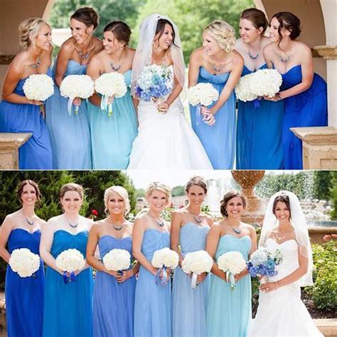 bridesmaid colors pastel blue bridesmaid dresses wedding ideas chwv
