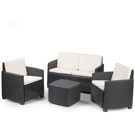 divanetti da giardino economici ipae progarden set da giardino 1 divano 2 poltrone e 1