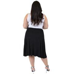 stretch is comfort s plus size knee length flowy