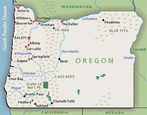 mountains oregon map oregon travel informations travel informations tips