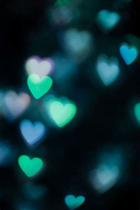 green wallpaper with hearts green hearts bokeh iphone smartphone wallpaper background