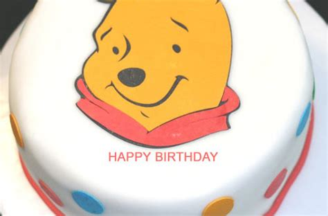 Winnie the Pooh Happy Birthday Cake With Name   2HappyBirthday