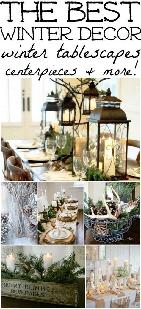 winter decorations winter table ideas  liz