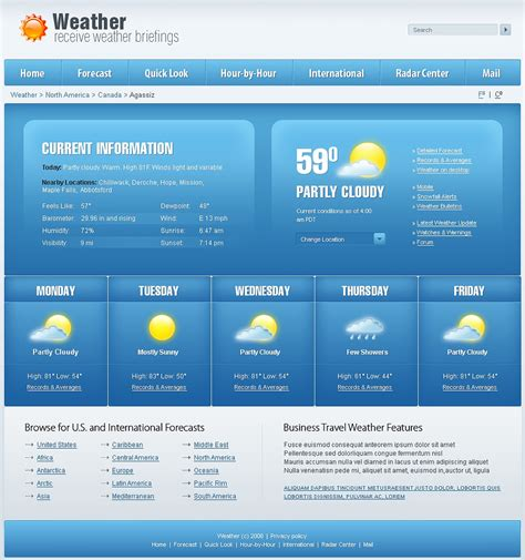 ppt templates free download weather weather website template web design templates website