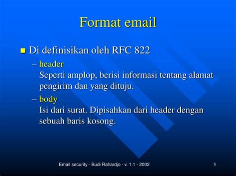 format email rfc ppt keamanan email powerpoint presentation id 5775536