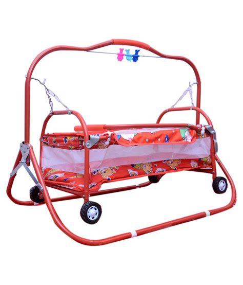 swing stroller abasr red steel craft baby cradle cot crib bassinet