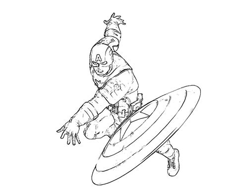 captain america shield coloring pages printable www