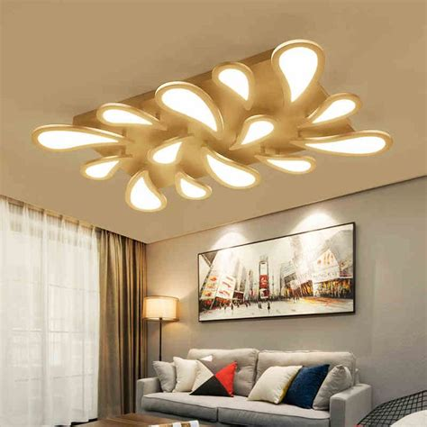 modern led acrylic water droplets ceiling lights fixtures
