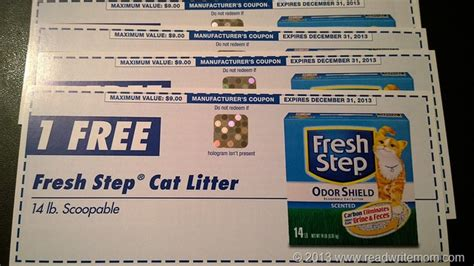 printable coupons for cat food and litter fresh step coupons coupon valid