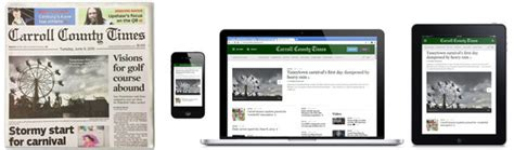 subscriber services center carroll county times