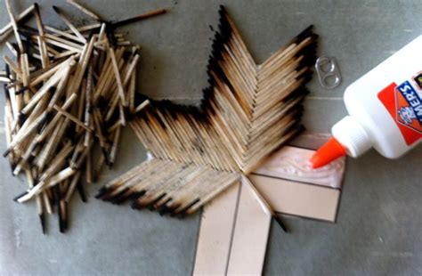 matchstick craft for matchstick cross project