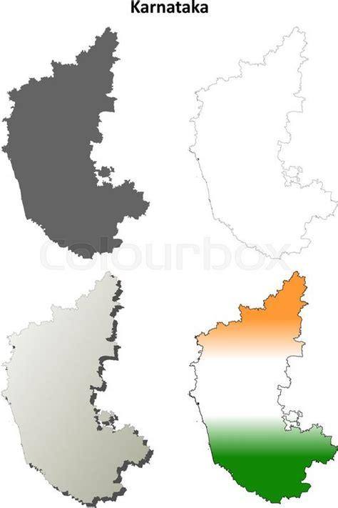 Karnataka Outline Map by Karnataka Blank Detailed Vector Outline Map Set Stock Vector Colourbox