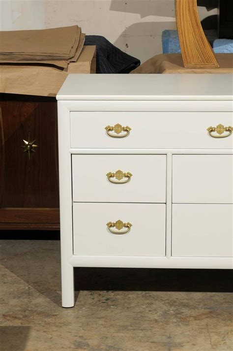 cream lacquer bedroom furniture restored vintage chest by century furniture in cream