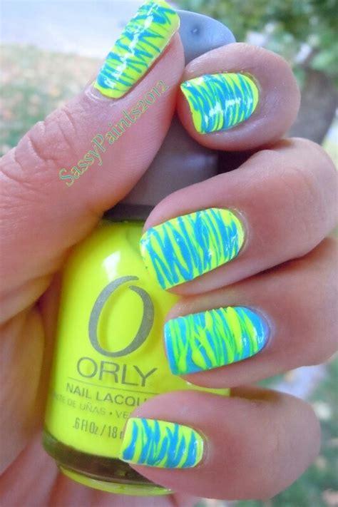 easy nail art bright colors love the bright colors nails pinterest nail design