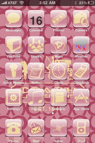 girly winterboard themes pink iphone themes