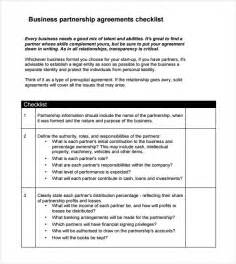 Small Business Contract Template Sample Business Partnership Agreement 9 Documents In