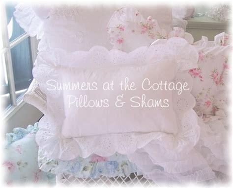shabby chic pillow shams shabby chic bedding cottage pillows shams