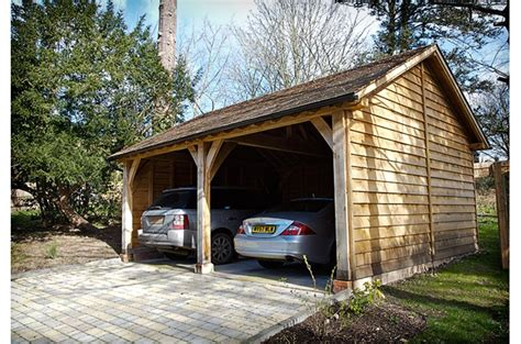 Timber Car Port by Oak Buildings Timber Framed Buildings