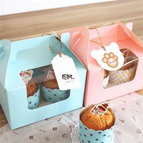Box Kue Sovenir Cake Box Cake Cupcake Muffin Pudding free shipping bakery package muffin cake box pink blue 4 cupcake box cake boxes birthday wedding
