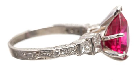platinum ruby and ring