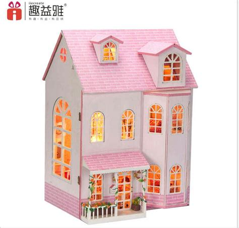 Handcrafted Doll Houses - scale model assembly 3d big diy wooden dollhouse