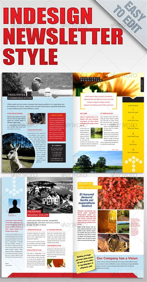 best photos of indesign 4 page newsletter templates