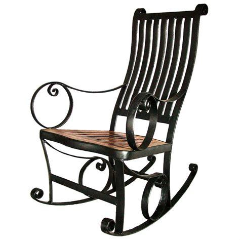 Iron Rocking Chair by Groovystuff 174 Iron Rocking Chair 235584 Patio