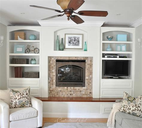White Built In Cabinets by I Painted Built Ins Centsational