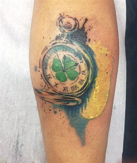 watercolor tattoo watch pocket watercolor by monica manara my works