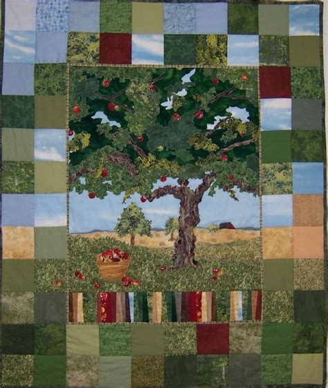 Apple Tree Quilting by Landscapes Hanging Fabric Fabric Quilt Fabric