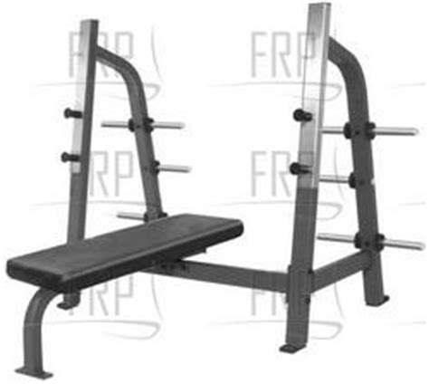 supine bench nautilus commercial core fitness f2 free weight