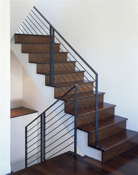 steel banister rails interior metal stair railing staircase traditional with