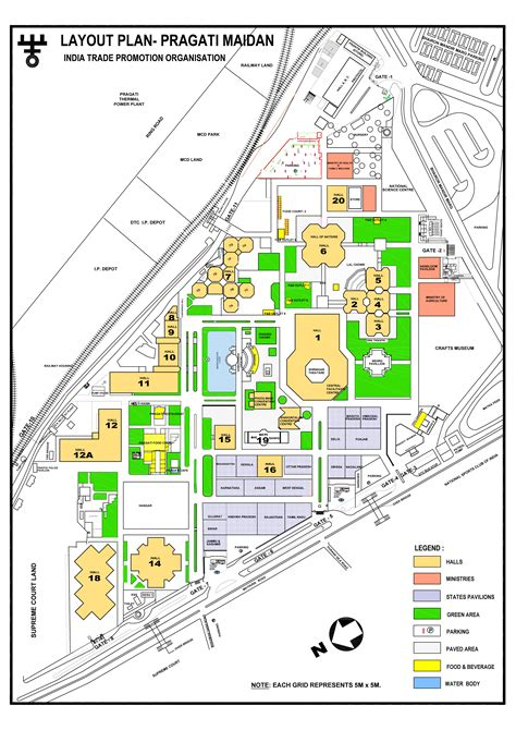 layout plan details itpo pragati maidan layout