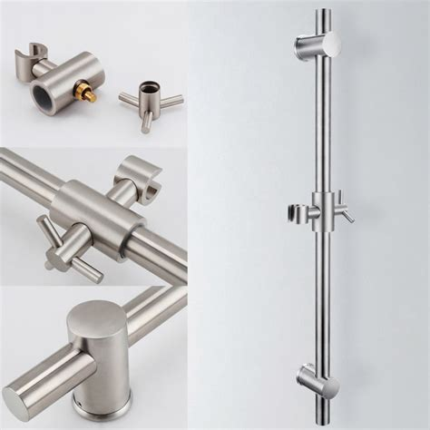 Shower Bracket by Aliexpress Buy Kes F203 2 Stainless Steel Slide Bars With All Brass Handheld Shower