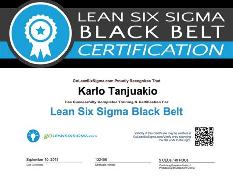six sigma black belt certificate template 7 best black belt certification images on