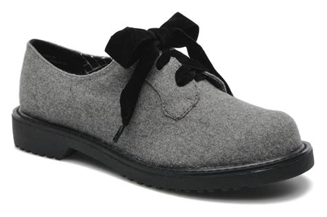 shelly shoes shellys mirianna lace up shoes in grey at sarenza