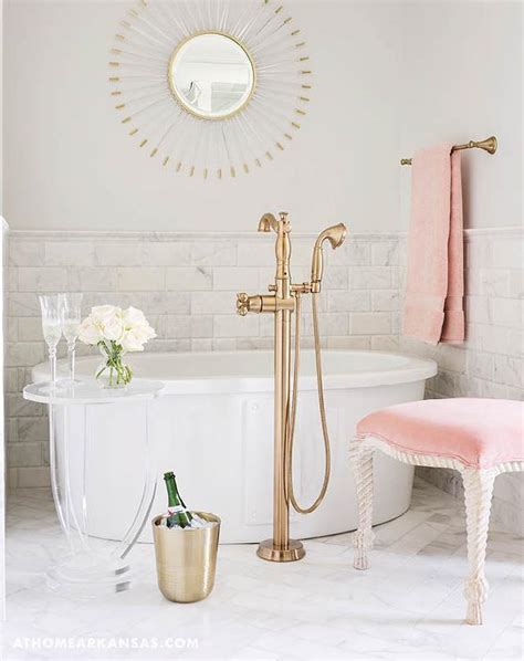 pink and white bathroom pink and taupe bathroom with pink curtains and pink marble