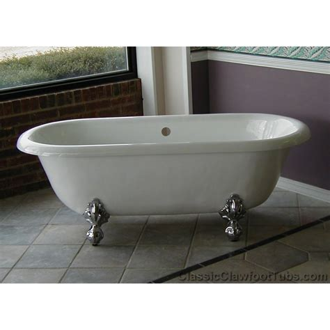claw bathtubs 66 quot acrylic double ended clawfoot tub classic clawfoot tub