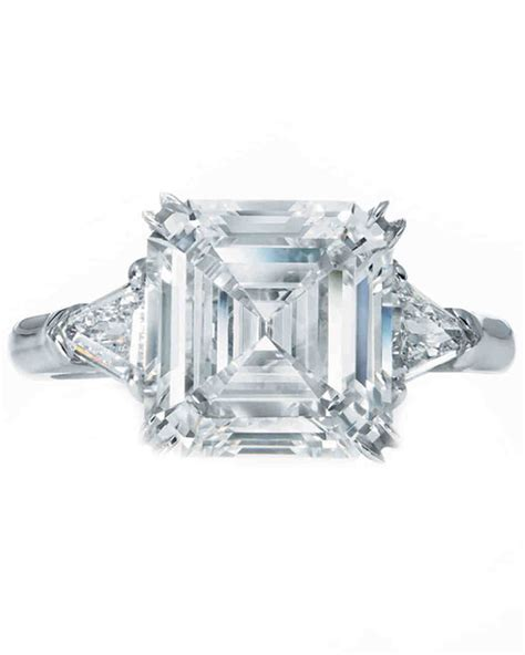 Harry Winstons Colored Rings Which One Would You Choose by Asscher Cut Engagement Rings Martha Stewart Weddings