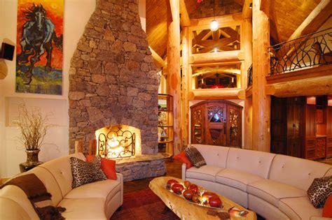 luxury log home interiors luxury log cabin homes interior big log cabin homes