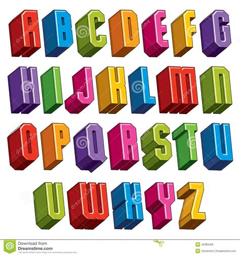 imagenes en 3d letras la fuente 3d vector las letras intr 233 pidas y pesadas
